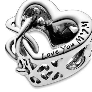 Talisman cu inimioară în stil infinity Love You Mum