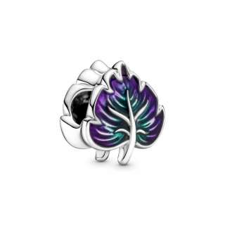 Talisman cu frunză verde și violet