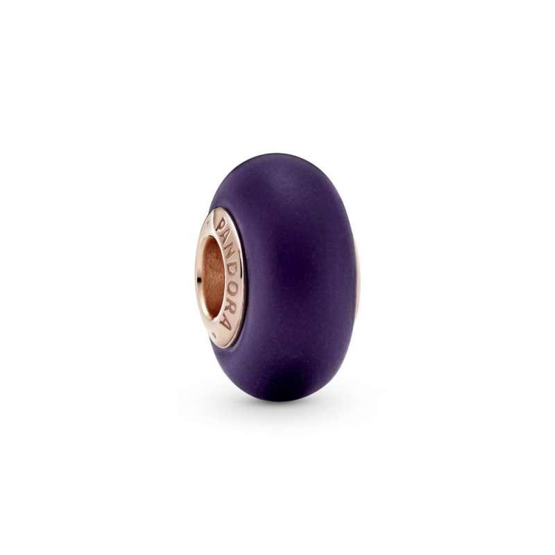 Talisman din sticlă de Murano violet mat