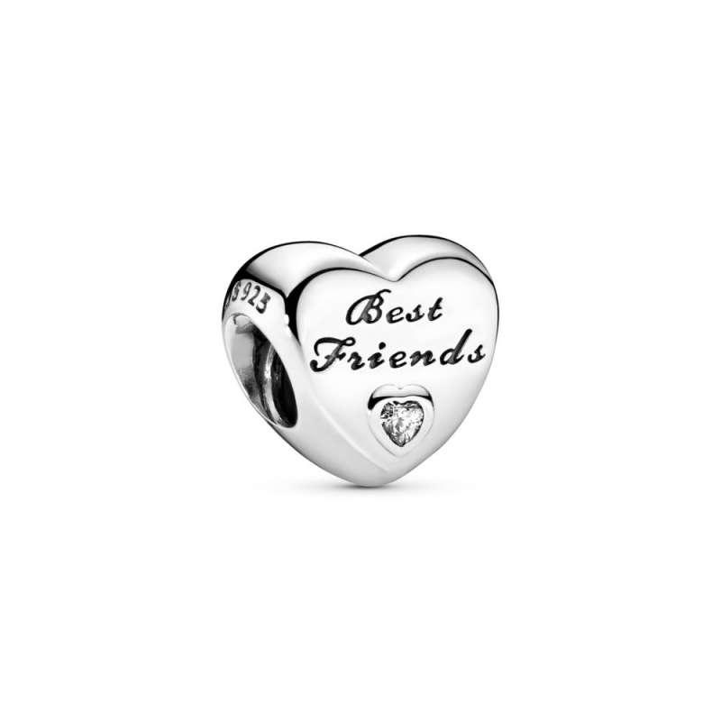 Talisman Cele mai bune prietene, din argint 925, cu zirconiu cubic transparent