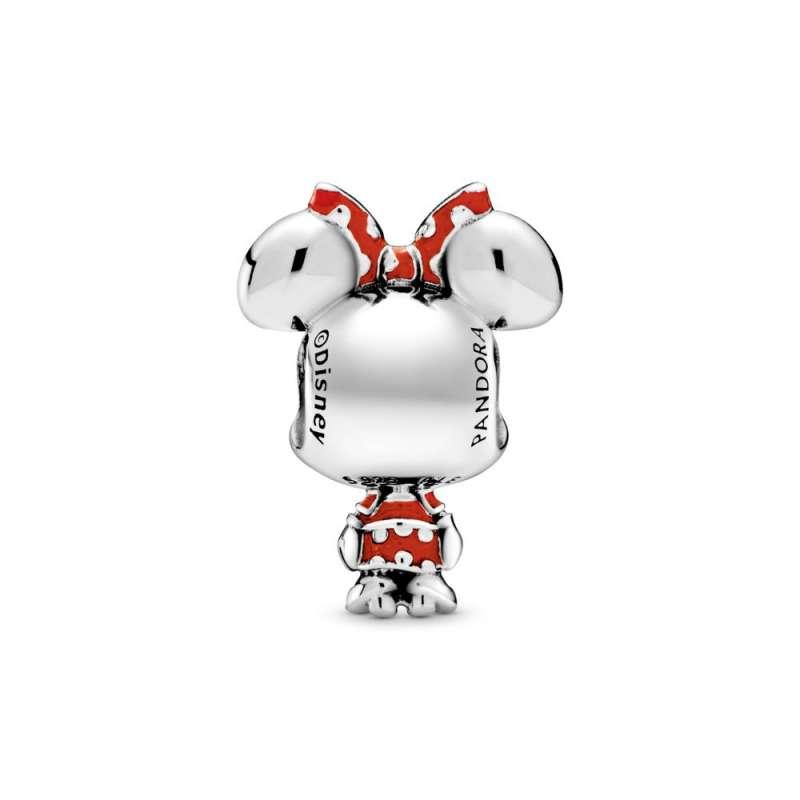 Talisman cu Minnie Mouse de la Disney cu rochiță și fundă cu buline